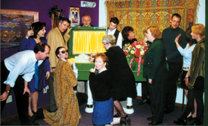 Cast members (l to r):  Brent Blalock, Carrie Rice, Steve Troxel, Thom Houston, Andrew Etter, DonEtte Harold, Lila Wittig, Dave Swanson, Cherie Ditto, Alyssa Gorrell, Tina Hadjakis, Karen Grieser, Karen Davis, and Brian Shetterly. (not pictured-James Williams).