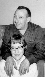 Mae Julian with her dad. circa late '50's