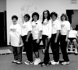 The friendly staff at Curves For Women. Left to right: Judy Elwell, Pam House, Linda J. Sweet-Blanzey, Jamie Beemer, Cindy Borchers, Holly Pieratt
