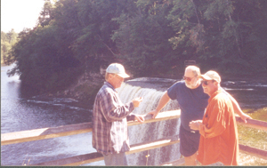 Boyd, Jim and Randy at Tahquamenon Falls State Park.