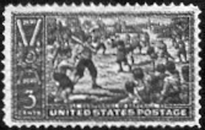 Baseball's Commemorative Stamp Issued In 1939