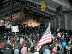 "photo by Rob Jackson ""Rally for America"" at Kruse Auction Park - Saturday, March 22, 2003."