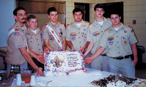 TROOP 19'S NEW EAGLE SCOUTS (L TO R)  Justin Marquart, Don Hall, Landon Matuska, Tim Blombach, Paul James, Joe Blombach
