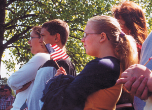 REMEMBERING MILITARY PAST AND PRESENT!                photo by Alex Cornwell  Military Ceremony - Prairie Grove Cemetery - Memorial Day - Monday, May 26th, 2003