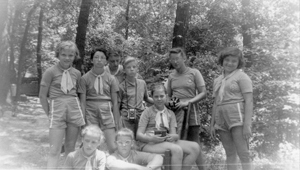 photo provided by Cindy Goshert Camp Logan Friends. Girl Scouts of Limberlost Council during our summer camp days circa '60s.