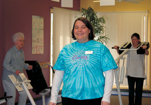 April Wyss-new manager at Waynedale's Curves for women.