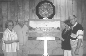 (L-R) Mabel McMillen, Russell McMillen, Helen Thiele, and Larry Thiele, Commander.
