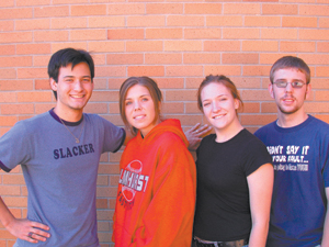 Aaron Mann,‑Allie Townsend, Lauren Zuber, Jack Schnellenberger cast in Barefoot in the Park at Elmhurst on Nov. 5 & 6.