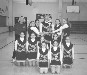 Front row: Cayla Sorg and Taylor Kryder Second Row: Kirsten Bigelow, Kristen Ferguson, Kourtney Freiburger, Alyssa Knuth, Brittany Ormiston Back row: Coach Jeanne Knuth, Samantha Fergurson, Alicia Freiburger, Jennifer Byrd, Katlyn Knuth, Shelby Gruss