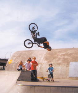 What CJ Stark is capable of doing on his bike is unreal. Here he is getting air time doing a backflip at Xtreme Park in Louisville, KY.