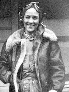 Margaret as a WASP in the 1940s.