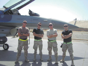 (L-R) Staff Sgt. Joseph Chestnut Jr., Tech Sgt. Joseph Hudson, Master Sgt. Anthony Johnston, Senior Airman Nicholas Marquardt.