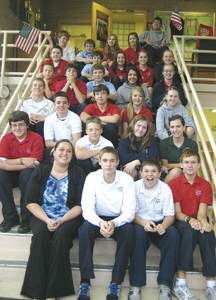 "Class 8A which won the ""We the People"" district competition on Nov. 11."