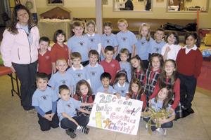 "FIRST GRADERS SPONSOR ""COOKIES FOR CHRIST"""