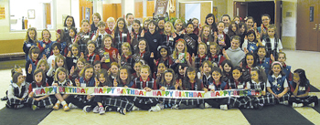 GIRL SCOUTS GATHER TO CELEBRATE 100 YEARS