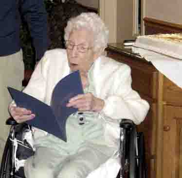 LOCAL RESIDENT NANCY CLARK CELEBRATES 100TH BIRTHDAY