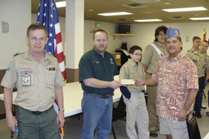 BOY SCOUT TROOP 344 RECIPIENT OF DONATION