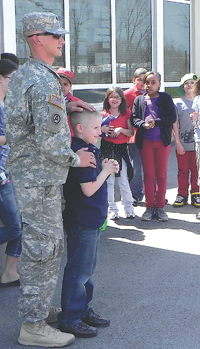 Kelly Soldier Surprise Visits Son - Indian Village Elementary School