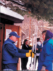 Cross-Country Skiing was open while the snow lasted.  Tom Lochner, Cross-Country Ski Supervisor, advises to call ahead for current ski conditions.