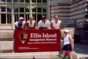 (l-r) Tori Bullock (Norwell), Sara Bullock (Norwell), Cassie Kiel (South Side), Jessica Stoller (Leo), and Brittney Kimmel (Wayne).