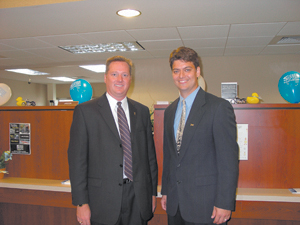 (L-R) Jeff Meyer, Three Rivers CEO and Chad Smith Waynedale Branch Sales Manager.