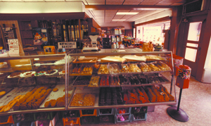 The Waynedale Bakery as it was in 1986.  Kyle and Joan Mason (photo right) made all their baked goods from scratch.