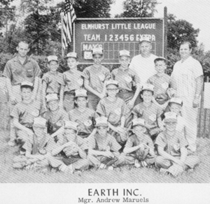 photo below: 1956 Earth Baseball Team Mgr. Andrew Maruels