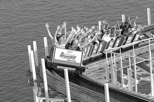 Indiana Beach, 2005. Hoosier Hurricane Roller Coaster.
