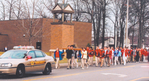 On the pilgrimage from Bishop Luers High School to St. Therese parish.