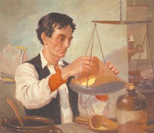 """Abraham Lincoln, The Honest Clerk"" by Frederic Mizen"