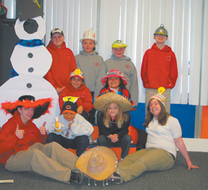 From left to right-front row: Corey and Megan, Second row: Marco and Madison, Third row: Krista and Angelica, Back row: John, Brianna, Elizabeth and Nathan.