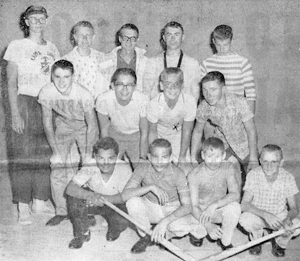 SUMMER OF 1961 TOURNAMENT WINNERS The youths pictured above are members of the Waynedale Park Baseball Team who won the Junior Division of the Park Board Playground Baseball Tournament. To clinch the championship they defeated the Psi Ote Team (Indian Village) at Packard Park to win the Southwest Division. Later they won 7-1 over Packard at Weisser Park for the South Championship. In the playoff for the city title, they played Hamilton Park at Packard, winning 10-2. Dale Snyder was the pitcher for the local nine in the playoff games. In the final game he had 10 strikeouts. The team was rewarded for their efforts with a trip to Chicago to see a big league game. (L-R) Front row: Chuck Boothe, Dennis Paul, Bob Stark and Harold Smith Middle row: Jan Davis, Dick Powell, Boyd Tarney and Dale Swank Back row: Coach and Manager Jack Ford, Denny Ballinger, Phil Wiehe, Steve Kissinger and Dick Croxton Disquay, Snyder and Cramer were absent when the photo was taken.