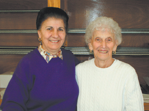 Zabia Makreas and Bernice France retired from Karen's Kitchen on April 11, 2008. Zabia had been with Karen's since 1985 and Bernice has worked there since 1998.