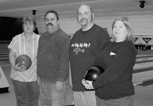 (L-R) Alley Brats: Peggy Daughtry, Rich Stein, Gary Stephens, and Kelly Stein