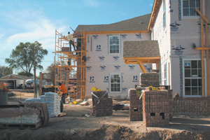 From the dirt work to the brick work, Bluffton Park Apartments moves forward.