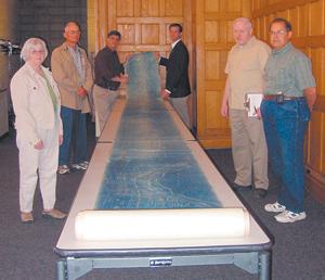 L-R: Kay and Tom Fortman; Tom Castaldi, Allen County Historian; Todd Maxwell Pelfrey, History Center executive director; Walter Font, History Center curator; and Bob Schmidt, CSI.