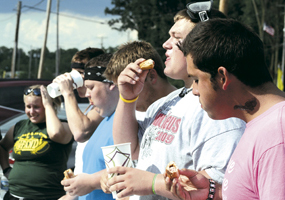 WAYNEDALE'S FIRST  CONEY DOG EATING CONTEST