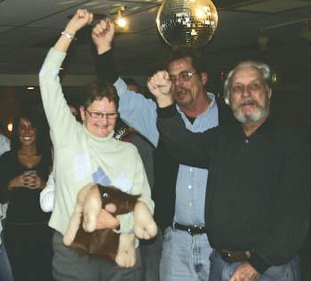 Linda Becker celebrates her deployment at Post #241.