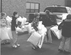 St. Aloysius donates pillows