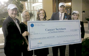 BLUE BALL OPEN RAISES $10,000  FOR CANCER SERVICES NE IN