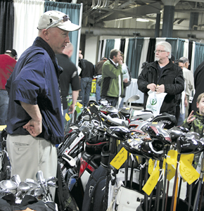 GOLFERS GET AN EARLY START AT NORTHERN INDIANA GOLF SHOW