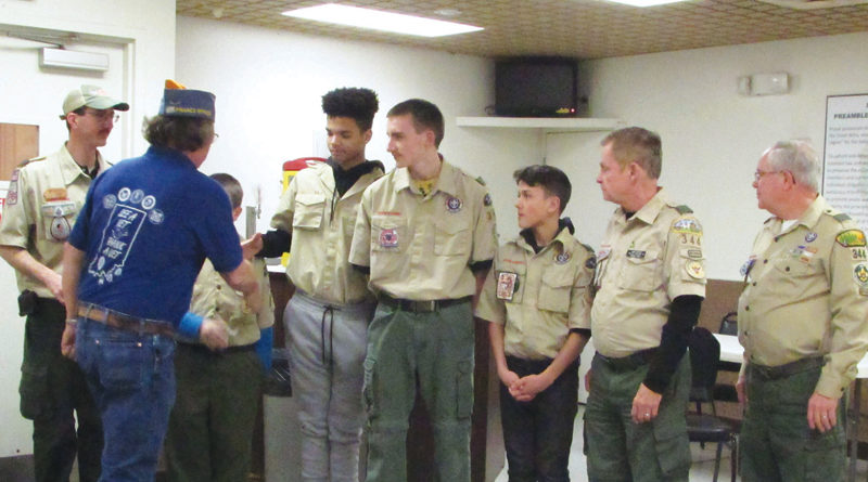 SONS OF THE AMERICAN LEGION POST #241 DONATES TO BOY SCOUTS