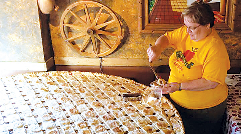 ONE BIG APPLE PIE AT THE NAPPANEE APPLE FESTIVAL