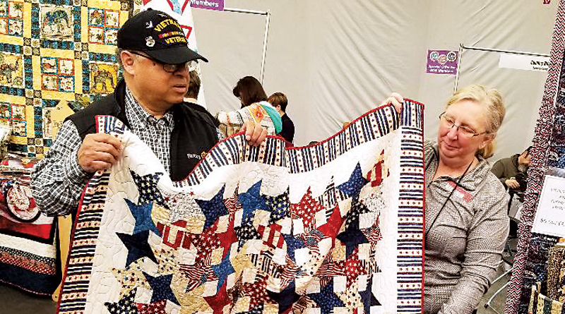 VETERANS ARE HONORED WITH PATRIOTIC QUILTS – Around The Frame