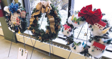 HOLIDAY WREATHS ON DISPLAY TO SUPPORT WAYNEDALE