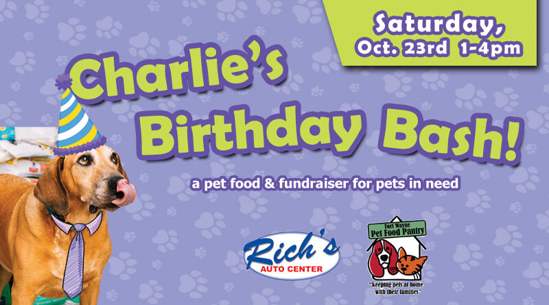 Happy 10th Birthday Charlie! ~ Party To Support Local Pets In Need